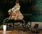 Jean Monet on his Hobby Horse, 1872 (oil on canvas) mural wallpaper kitchen preview