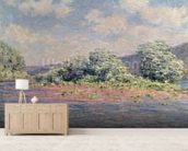 The Seine at Port-Villez, c.1890 (oil on canvas) wall mural living room preview