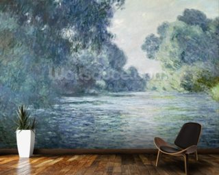 Branch of the Seine near Giverny, 1897 (oil on canvas) wallpaper mural