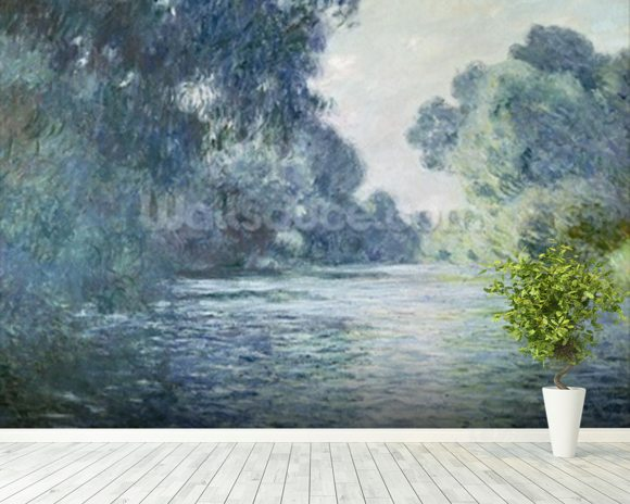 Branch of the Seine near Giverny, 1897 (oil on canvas) wallpaper mural room setting
