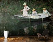 The Boat at Giverny, c.1887 (oil on canvas) mural wallpaper kitchen preview