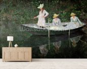 The Boat at Giverny, c.1887 (oil on canvas) mural wallpaper living room preview