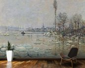 Breakup of Ice, 1880 (oil on canvas) wall mural kitchen preview