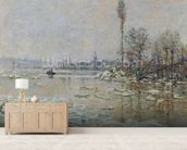 Breakup of Ice, 1880 (oil on canvas) wall mural living room preview
