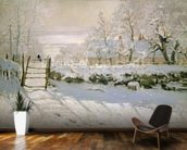 The Magpie, 1869 (oil on canvas) mural wallpaper kitchen preview