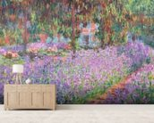 The Artists Garden at Giverny, 1900 (oil on canvas) wall mural living room preview