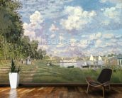 The Marina at Argenteuil, 1872 (oil on canvas) mural wallpaper kitchen preview