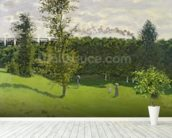 The Train in the Country, c.1870-71 (oil on canvas) wall mural in-room view