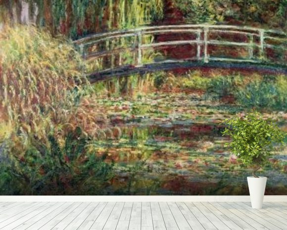 Waterlily Pond: Pink Harmony, 1900 (oil on canvas) wallpaper mural room setting