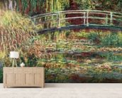 Waterlily Pond: Pink Harmony, 1900 (oil on canvas) wallpaper mural living room preview