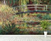 Waterlily Pond: Pink Harmony, 1900 (oil on canvas) wallpaper mural in-room view