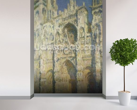 Rouen Cathedral in Full Sunlight: Harmony in Blue and Gold, 1894 wall mural room setting