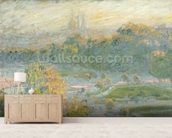 The Tuileries (study) 1875 (oil on canvas) wallpaper mural living room preview