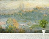 The Tuileries (study) 1875 (oil on canvas) wallpaper mural in-room view