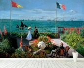 The Terrace at Sainte-Adresse, 1867 (oil on canvas) mural wallpaper in-room view