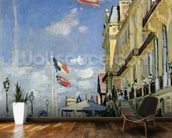 The Hotel des Roches Noires at Trouville, 1870 (oil on canvas) wallpaper mural kitchen preview