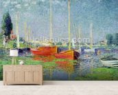 Argenteuil, c.1872-5 (oil on canvas) wall mural living room preview