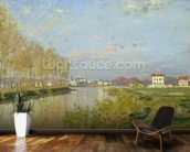 The Seine at Argenteuil, 1873 (oil on canvas) wallpaper mural kitchen preview