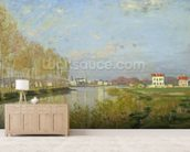 The Seine at Argenteuil, 1873 (oil on canvas) wallpaper mural living room preview