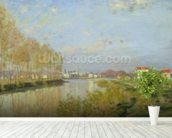 The Seine at Argenteuil, 1873 (oil on canvas) wallpaper mural in-room view