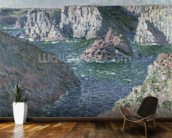 The Rocks of Belle Ile, 1886 (oil on canvas) mural wallpaper kitchen preview