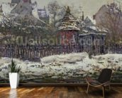 The Church at Vetheuil, 1879 (oil on canvas) wallpaper mural kitchen preview