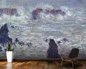 Storm, off the Coast of Belle-Ile, 1886 (oil on canvas) mural wallpaper kitchen preview