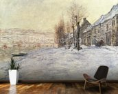 Lavacourt under Snow, c.1878-81 (oil on canvas) wall mural kitchen preview