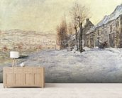 Lavacourt under Snow, c.1878-81 (oil on canvas) wall mural living room preview