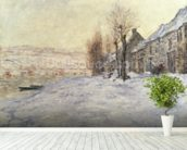 Lavacourt under Snow, c.1878-81 (oil on canvas) wall mural in-room view