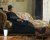 Meditation, or Madame Monet on the Sofa, c.1871 (oil on canvas) wall mural kitchen preview