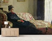 Meditation, or Madame Monet on the Sofa, c.1871 (oil on canvas) wall mural living room preview