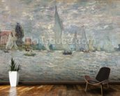 The Boats, or Regatta at Argenteuil, c.1874 (oil on canvas) wall mural kitchen preview