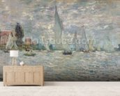 The Boats, or Regatta at Argenteuil, c.1874 (oil on canvas) wall mural living room preview