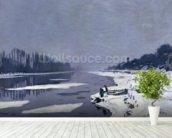 Ice floes on the Seine at Bougival, c.1867-68 (oil on canvas) wallpaper mural in-room view