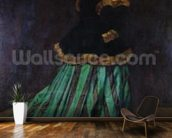 Camille, or The Woman in the Green Dress, 1866 (oil on canvas) mural wallpaper kitchen preview