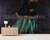 Camille, or The Woman in the Green Dress, 1866 (oil on canvas) mural wallpaper living room preview