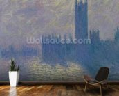 The Houses of Parliament, Stormy Sky, 1904 (oil on canvas) wall mural kitchen preview