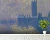 The Houses of Parliament, Stormy Sky, 1904 (oil on canvas) wall mural in-room view