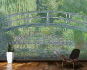 The Waterlily Pond: Green Harmony, 1899 (oil on canvas) wallpaper mural kitchen preview