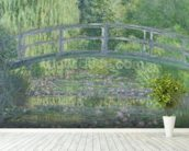 The Waterlily Pond: Green Harmony, 1899 (oil on canvas) wallpaper mural in-room view