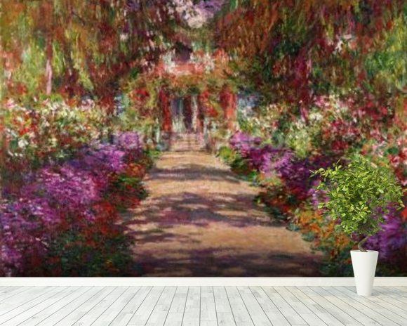 Monet, Claude & A Pathway in Monets Garden & Wall Mural ...