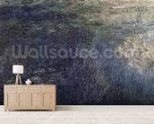 Waterlilies - The Clouds (left section), 1914-18 (oil on canvas) (see also 64184 & 64185) mural wallpaper living room preview