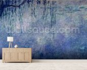 Waterlilies: Two Weeping Willows, left section, 1914-18 (oil on canvas) (see also 75701-03) wallpaper mural living room preview