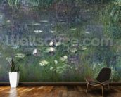 Waterlilies: Morning, 1914-18 (right section) wall mural kitchen preview