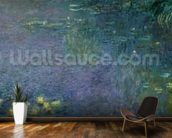 Waterlilies: Morning, 1914-18 (centre right section) wallpaper mural kitchen preview