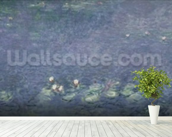 Waterlilies: Morning, 1914-18 (centre left section) mural wallpaper room setting