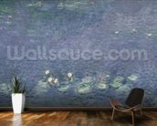 Waterlilies: Morning, 1914-18 (centre left section) mural wallpaper kitchen preview