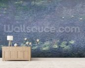 Waterlilies: Morning, 1914-18 (centre left section) mural wallpaper living room preview