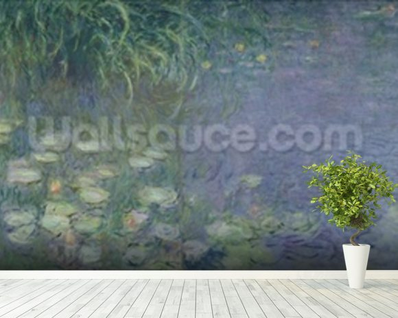 Waterlilies: Morning, 1914-18 (left section) wall mural room setting